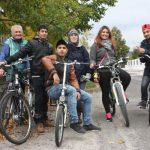 Radtour mit Flüchtlingen in Wiener Neustadt