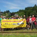 Protestradtour Donauuferbahn 2. August 2016