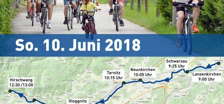So. 10. Juni 2018: Schwarzatal Radtour