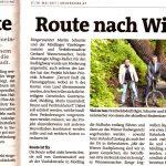 """Bezirksblätter-Artikel """"Flotte Route nach Wien"""""""