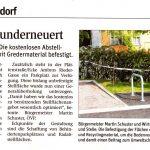 "NÖN-Zeitungsartikel ""Parkfläche runderneuert"""