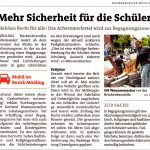 """Bezirksblätter-Artikel """"Mehr Sicherheit für die Schüler"""""""