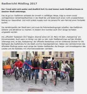Radbericht Mödling 2017