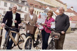 Einkaufen mit dem Fahrrad in Melk 2018