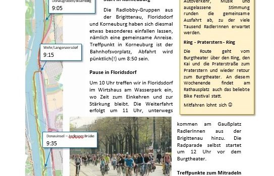 4. April 2018: Korneuburg<br>News rund ums Rad