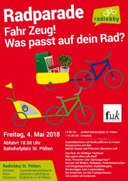 4. Mai: Radparade St. Pölten<br>Fahr Zeug! Was passt auf dein Rad?