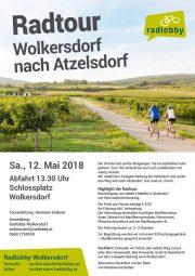 Radlobby Radtour: Wolkersdorf > Atzelsdorf > Wolkersdorf