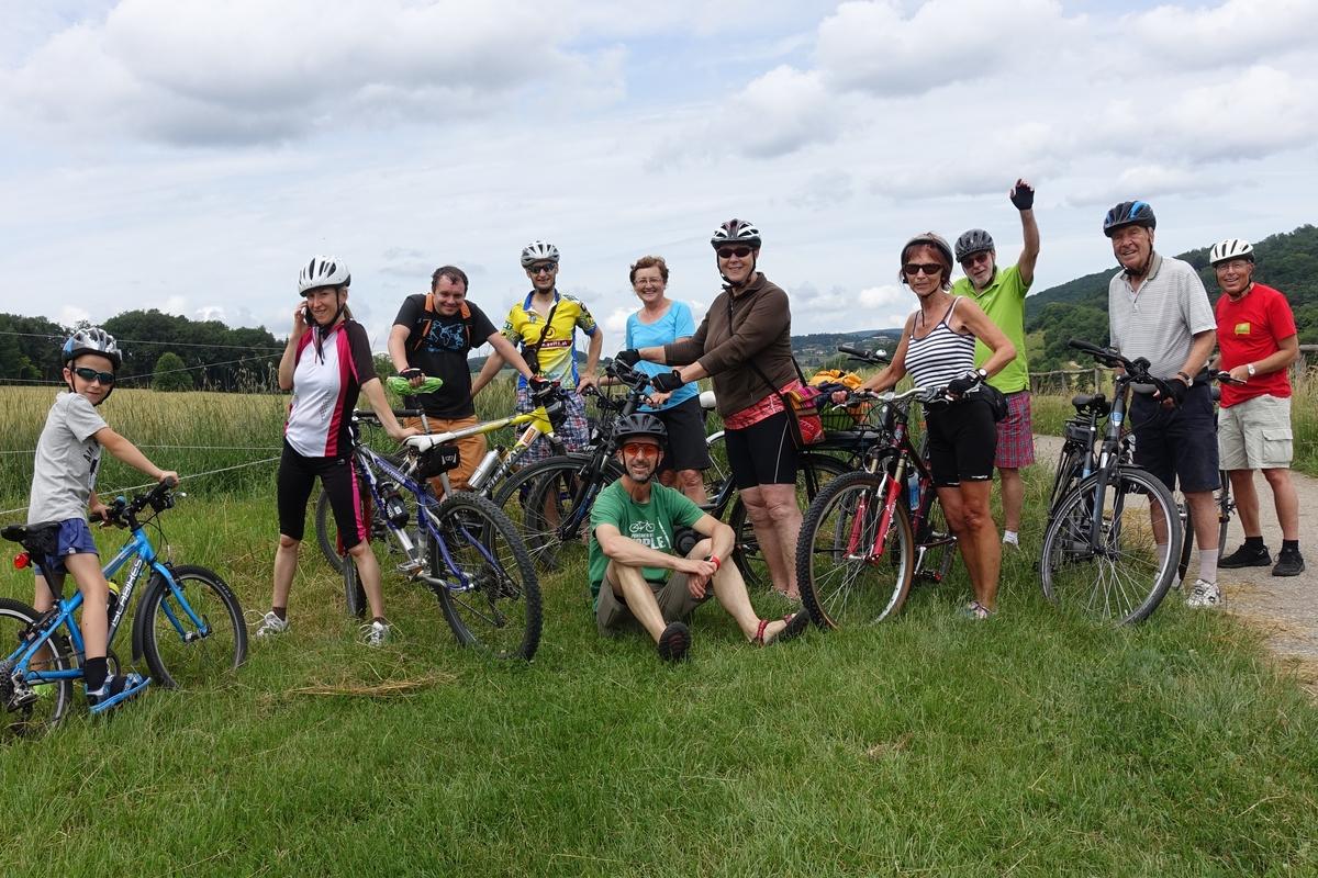 11 TeilnehmerInnen des Radlobby-Ausflugs