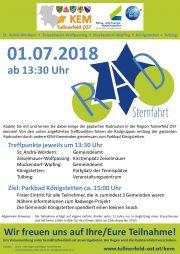 Tullnerfeld Ost:<br>Einladung zur Radsternfahrt am 1. Juli 2018