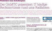 Citymagazin Wiener Neustadt:<br>ÖAMTC präsentiert 17 häufige Rechtsirrtümer