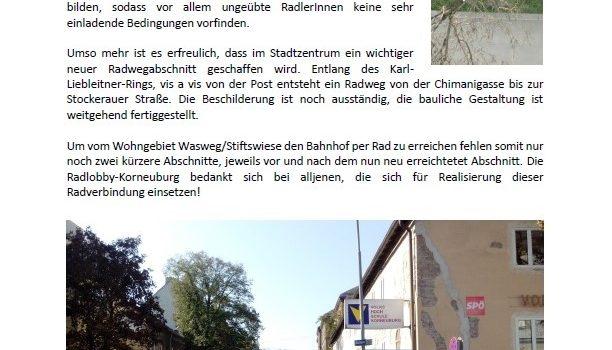 Korneuburg – News rund ums Rad vom 14.10.2018