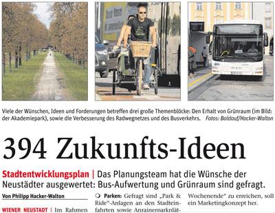 Stadtentwicklungsplan Wiener Neustadt · STEP 2030<br>Auswertung der bisherigen Beteiligung der Bevölkerung