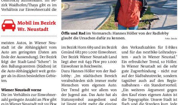 Wiener Neustadt ideal für autofreie Mobilität