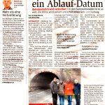 """Zeitungsausschnitt NÖN Mödling: """"KOMMENTAR"""" und """"Das Nadelöhr hat ein Ablaufdatum"""""""