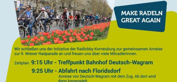 Radlobby Deutsch-Wagram goes Wiener RADpaRADe am Sonntag, 31.03.2019