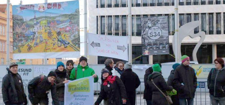 Radlobby unterstützt Initiativen zu Stopp S34!