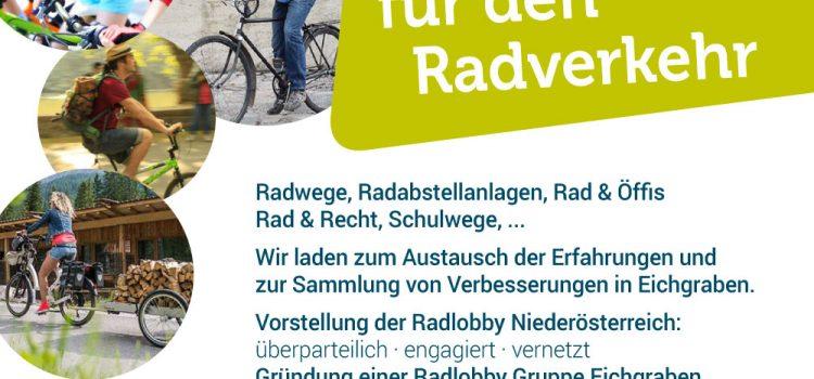 Eichgraben radelt<br>Gute Ideen für den Radverkehr<br>27. Feb. Eichgraben