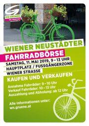 Grüne Fahrradbörse in Wiener Neustadt – 11. Mai 2019, Hauptplatz