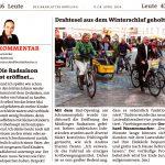 """Zeitungsartikel Bezirksblätter """"Die Radsaison ist eröffnet"""" und """"Drahtesel aus dem Winterschlaf geholt"""""""