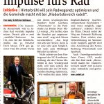 "NÖN-Artikel ""Impulse fürs Rad"""