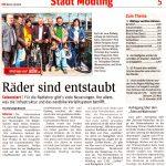 """Zeitungsartikel NÖN """"Räder sind entstaubt"""""""