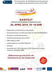 Burgenland radelt • 26. April • Radfest mit Radparade in Neusiedl am See