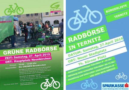 27. April 2019: Radbörsen in Neunkirchen und Ternitz