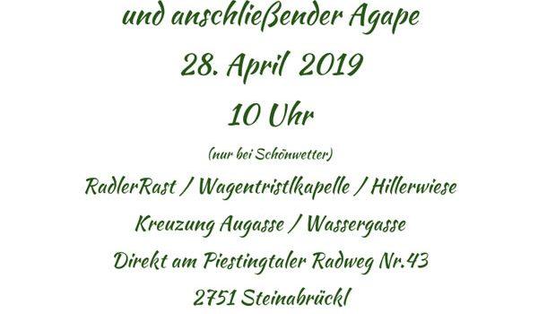 Piestingtalradweg: RadlerRast Eröffnung<br>Steinabrückl, 28. April 2019, 10 Uhr
