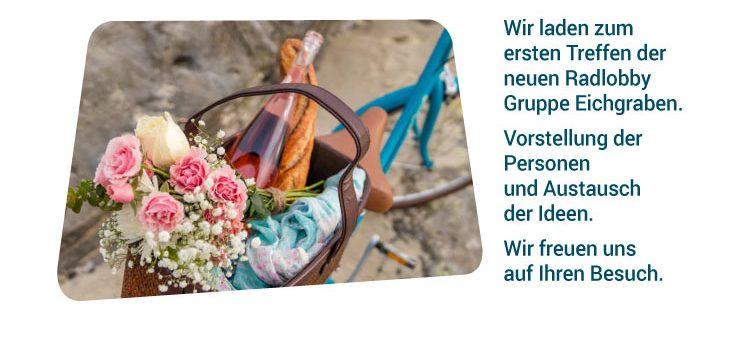 Gründungsversammlung Radlobby Eichgraben<br>Dienstag, 30. April 2019, 19 Uhr<br>Gemeindezentrum Eichgraben