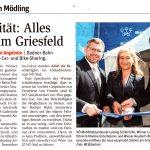 Zeitungsartikel NÖN: Mobilität: Alles easy am Griesfeld