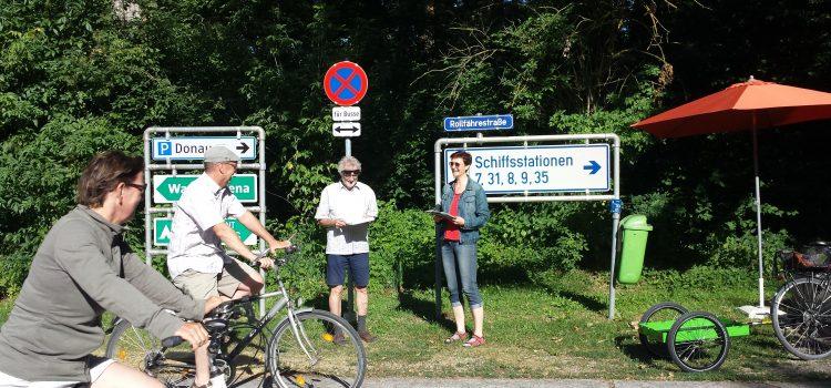 Radfahrer und Fußgänger zählen! Rollfährestraße Melk: Vorrang für Autos im Naherholungsgebiet?
