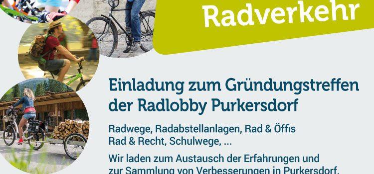 Purkersdorf radelt: <br>Einladung zur Gründung der Radlobby Purkersdorf