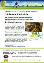 Korneuburg – Technik und Nachhaltigkeit: <br>DI Cap und Dr. Renoldner auf der Michlfarm