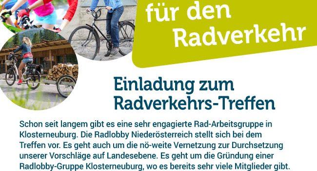 "Radlobby Treffen – Klosterneuburg & Umgebung <br>22. Oktober 2019 – Pizzeria ""Castelnuovo"""