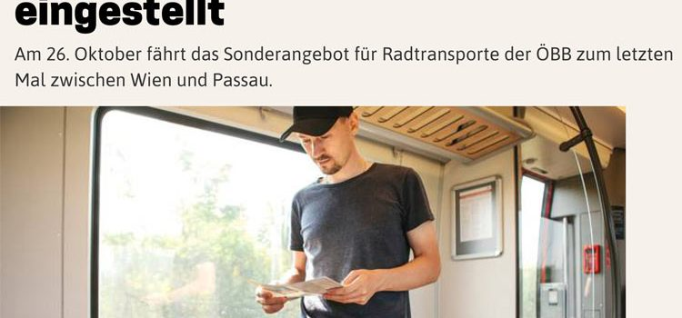 NÖN | Gerücht bestätigt: <br>Radtramper Donau wird eingestellt