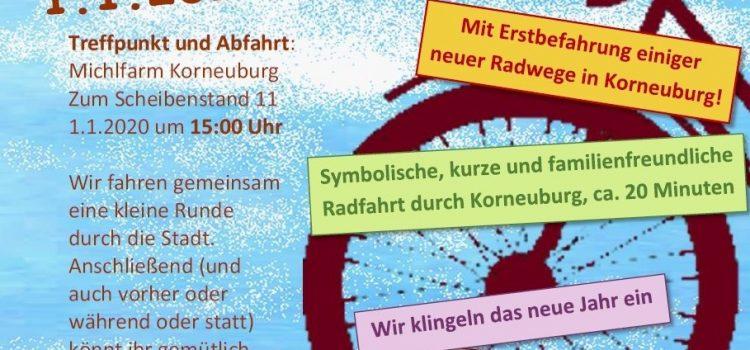 Rad-Saisoneröffnung in Korneuburg am 1.1.2020