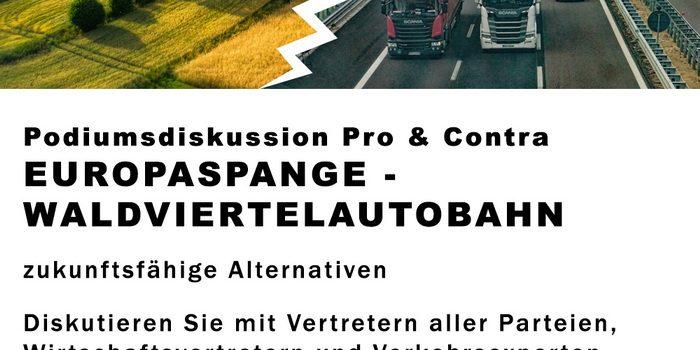 Filmbericht von der Podiumsdiskussion am 28. Feb. 2020 im Stadtsaal Waidhofen/Thaya <br>Zukunftsfähige Alternativen zur Waldviertelautobahn