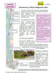 Radparade am 29.03.2020 in Wien <br>Gemeinsame Radfahrt ab Korneuburg und ab Floridsdorf