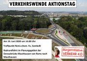 "Verkehrswende Aktionstag 19. Juni 2020 <br>Bürgerinitiative ""Verkehr 4. 0"" radelt für die Verkehrswende <br>Radlobby Enns-Donauwinkel ist dabei"