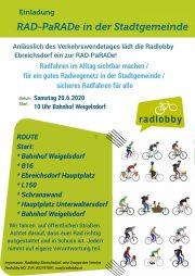 Verkehrswende Aktionstag in Ebreichsdorf <br>20. Juni 2020 <br>RAD-PaRADe in der Stadtgemeinde