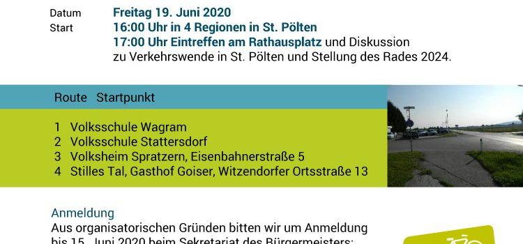 Verkehrswende Aktionstag in St. Pölten <br>19. Juni 2020 <br>Gemeinde-RAD-Tour