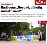 NÖN: Die Zukunft heißt Fahrrad <br>Berichte in allen NÖN Ausgaben in Niederösterreich <br>NÖN Ausgabe Baden
