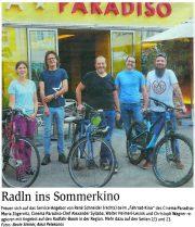NÖN St. Pölten: Radln ins Sommerkino – Fahrradkino im Cinema Paradiso