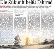 NÖN: Die Zukunft heißt Fahrrad <br>Berichte in allen NÖN Ausgaben in Niederösterreich <br>NÖN Ausgabe Gmünd