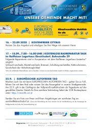 Ebreichsdorf ist dabei: Kostenlose Radreparatur | Autofreier Tag | Kostenfreier Citybus <br>Europäische Mobilitätswoche 16.-22. Sept. 2020