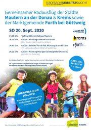 Radlobby Krems | Radausflug der Gemeinden Furth Krems Mautern <br>Sonntag, 20. Sept. 2020