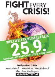 Radlobby Niederösterreich & sehr viele Organisationen rufen auf: <br>Weltweiter Klimastreik am Freitag, 25. September