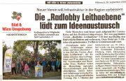 Krone: Radlobby Leithaebene lädt zum Ideenaustausch