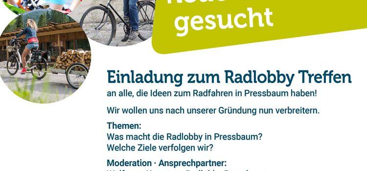 Einladung zum Radlobby Treffen in Pressbaum <br>Freitag, 22. Oktober 2020 · Rathaus Pressbaum