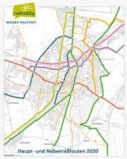 Radlobby Wiener Neustadt: Radweg-Netz nach U-Bahn-Vorbild